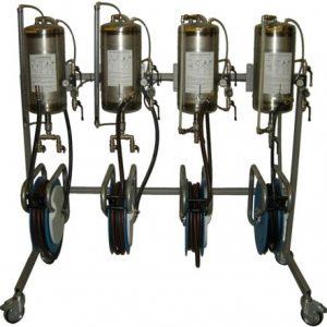 nesteiden tyhjennyslaitejärjestelmä
