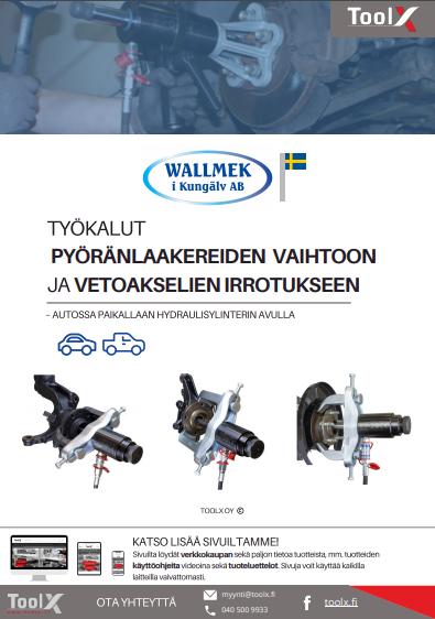 työkalut pyöränlaakerien vaihtoon ja vetoakselien irrotukseen esite